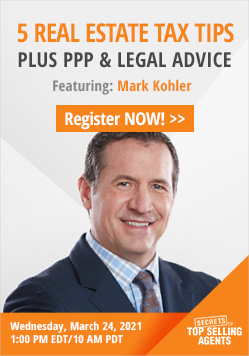 5 Real Estate Tax Tips Plus PPP & Legal Advice with Mark Kohler Webinar